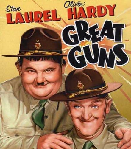 دانلود دوبله فارسی فیلم کمدی تفنگ های بزرگ Great Guns 1941