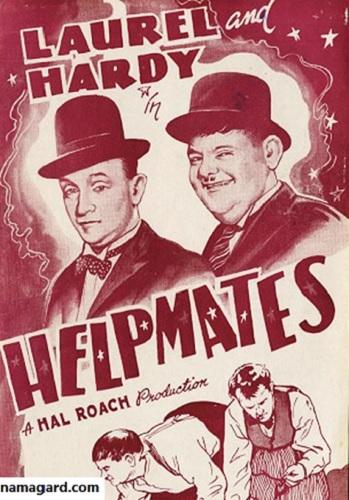 دانلود رایگان دوبله فارسی فیلم کمدی همدست Helpmates 1932