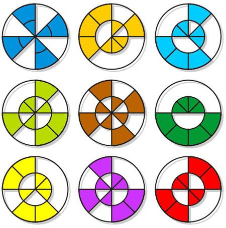 تست هوش سخت دایره های مکمل برای نابغه ها + جواب