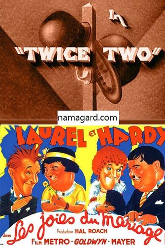 دانلود رایگان دوبله فارسی فیلم کمدی جفت دو Twice Two 1933