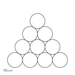 تست هوش تصویری آسان سکه و مثلث + جواب