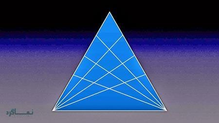 تست هوش تصویری آسان شمارش مثلث ها (02) + جواب