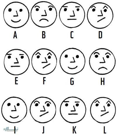 تست هوش تصویری آسان تشخیص چهره برای باهوش ها! + جواب