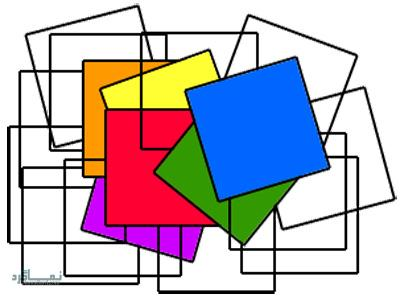 تست هوش تصویری محاسبه تعداد چهارگوش + با جواب