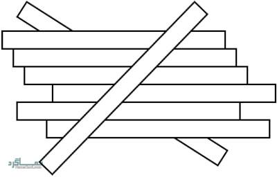 تست هوش تصویری تکه های چوب برای نابغه ها + جواب