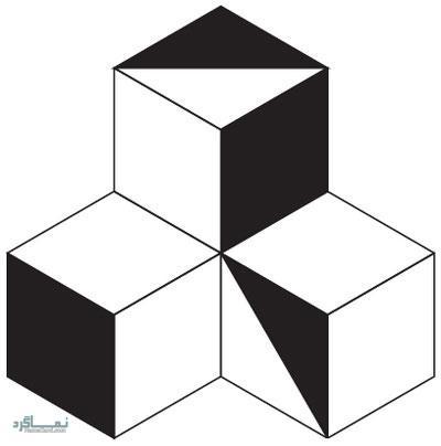 تست هوش تصویری مکعب های رنگ شده برای باهوش ها! + جواب