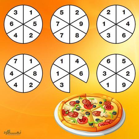 تست هوش تصویری خیلی جالب اسلایس پیتزا + جواب