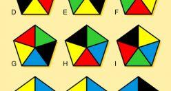 تست هوش تصویری پنج ضلعی های مشابه + جواب