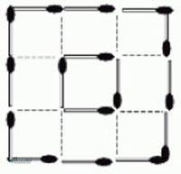 تست هوش تصویری جالب مربع و چوب کبریت (02) + با جواب