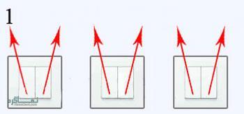 جواب معمای سخت لامپ و کلید دو پل 1