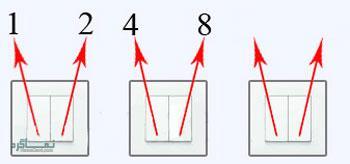 جواب معمای سخت لامپ و کلید دو پل 4