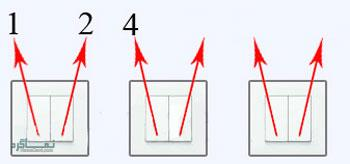 جواب معمای سخت لامپ و کلید دو پل 3