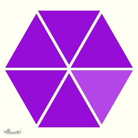 15 تست هوش بینایی رنگ مثلث ها(11) - تست 1
