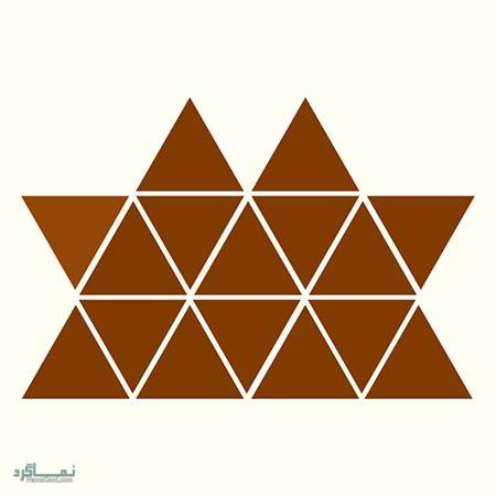 15 تست هوش بینایی رنگ مثلث ها(11) - تست 6