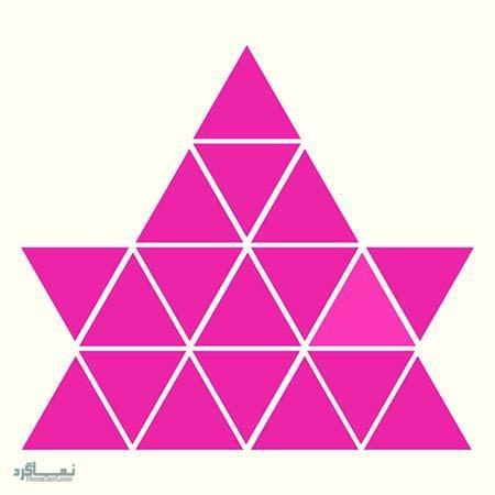 15 تست هوش بینایی رنگ مثلث ها(11) - تست 7