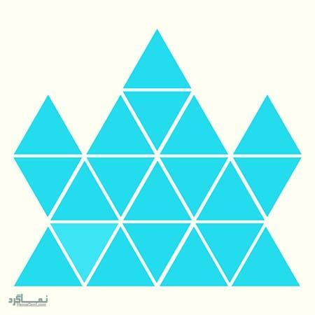 15 تست هوش بینایی رنگ مثلث ها(11) - تست 8