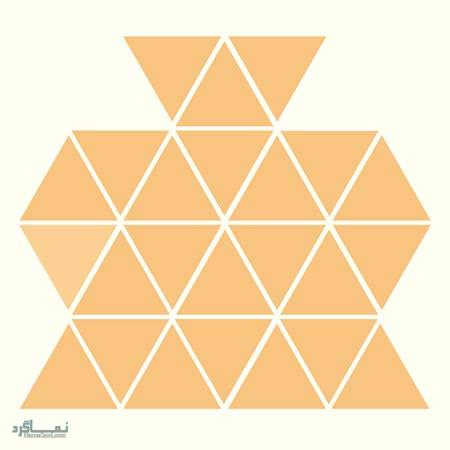 15 تست هوش بینایی رنگ مثلث ها(11) - تست 10