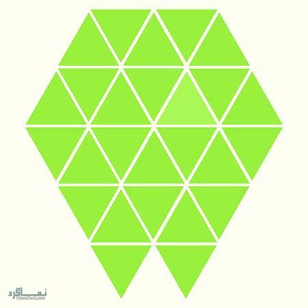 15 تست هوش بینایی رنگ مثلث ها(11) - تست 11