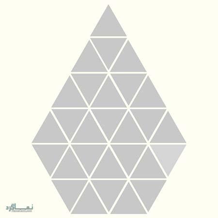 15 تست هوش بینایی رنگ مثلث ها(11) - تست 12