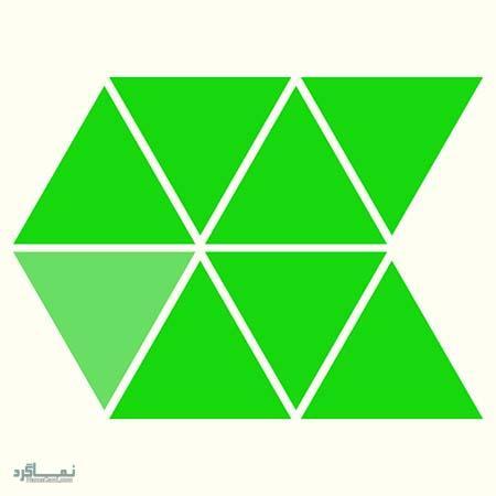 15 تست هوش بینایی رنگ مثلث ها(11) - تست 2