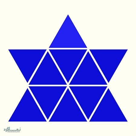 15 تست هوش بینایی رنگ مثلث ها(11) - تست 3