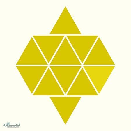 15 تست هوش بینایی رنگ مثلث ها(11) - تست 4