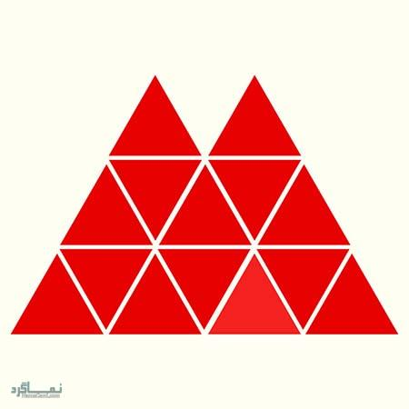 15 تست هوش بینایی رنگ مثلث ها(11) - تست 5