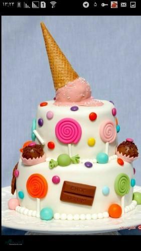 عکس کیک تولد جدید لاکچری