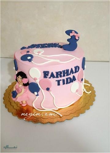 عکس های کیک تولد یک طبقه متفاوت