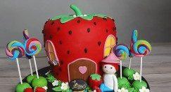 عکس کیک تولد شیک دخترانه یک طبقه + مدل های جذاب خفن کیک تولد (۸)