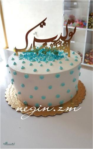عکس کیک تولد شیک دخترانه یک طبقه