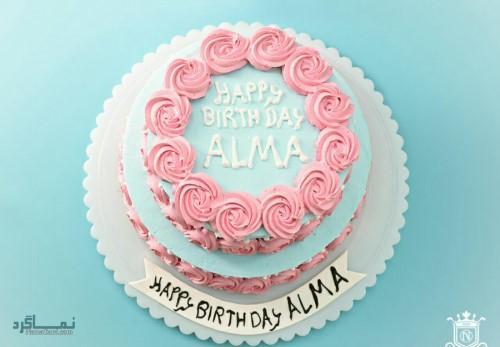 عکس کیک تولد تک شاخقشنگ