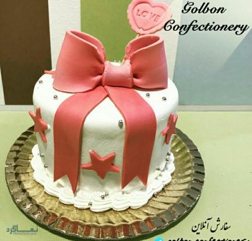 عکس کیک تولد تک شاخباکلاس