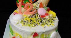 عکس کیک تولد با تم اسب تک شاخ + مدل کیک تولد زیبا دخترانه (۱۰)