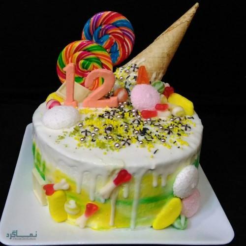 عکس کیک تولد تک شاخمتفاوت