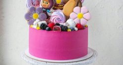 عکس کیک تولد دخترانه اسب تک شاخ + مدل کیک تولد زیبا دخترانه (۵)