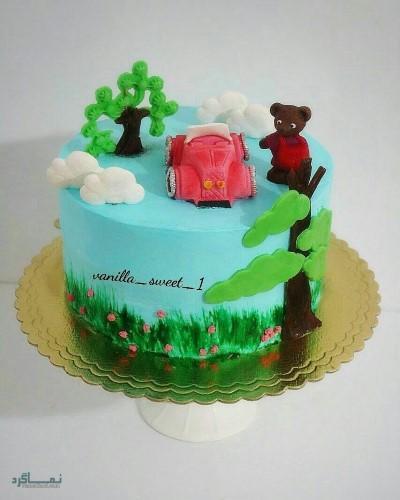 عکس کیک تولد دخترانه اسب تک شاخ