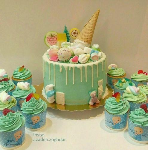 عکس کیک تولد مدل تک شاخ