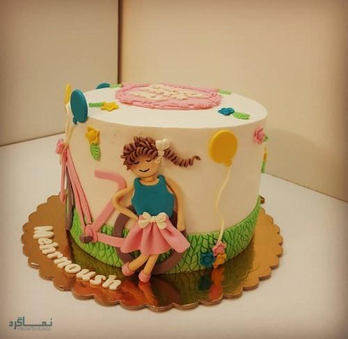 عکس کیک تولد زیبا دخترونه