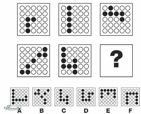 تست هوش تصویری گزینه صحیح سخت(16)