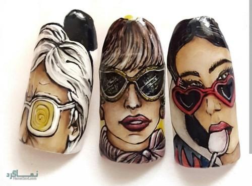 دیزاین ناخن های دخترانه جذاب
