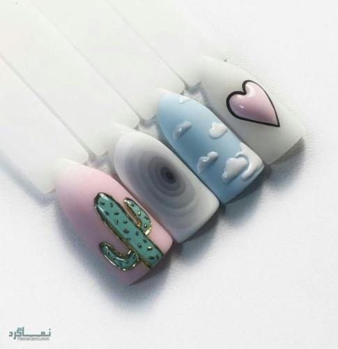 مدل ناخن های زیبای باکلاس
