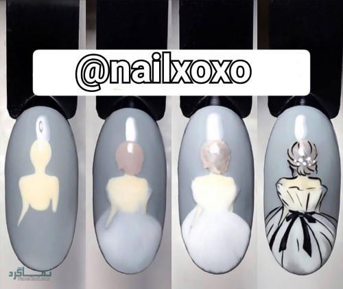 طراحی ناخن های مجلسی زیبا
