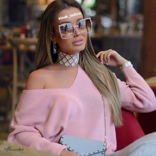 عینک های افتابی رنگی زنانه قشنگ